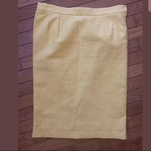Yves Saint Laurent Bright Textured Pencil Skirt